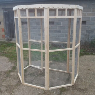 Flat Back Aviary (meshed back) Unpainted